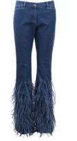 Michael Kors Ostrich Flare Jean