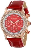 Akribos XXIV Women's AK556RD Multi-Function Dazzling Strap Watch
