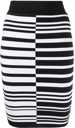 Balmain Striped Pencil Skirt