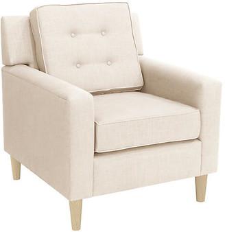 One Kings Lane Winston Club Chair - Talc Linen