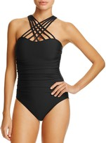 Magicsuit Giselle Crisscross Strappy Neck One-Piece Swimsuit