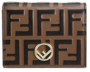 Fendi FF Small Leather Wallet On Chain