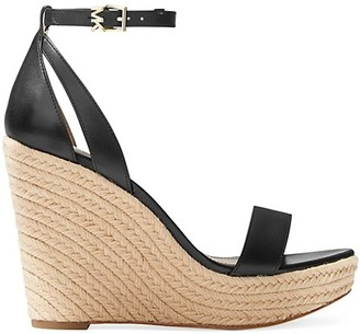 MICHAEL Michael Kors Kimberly Leather Espadrille Platform Wedge Sandals