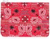 Coohem knit tweed bandana pouch
