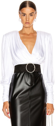 Redemption Draped Top in White | FWRD