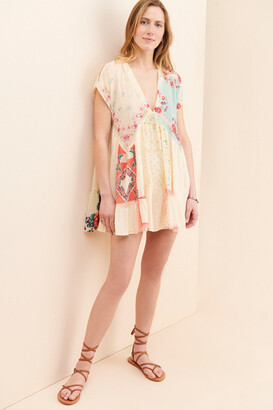 Free People Mended With Scarves Mini Dress