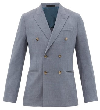 Paul Smith Double-breasted Peak-lapel Wool Blazer - Mens - Grey