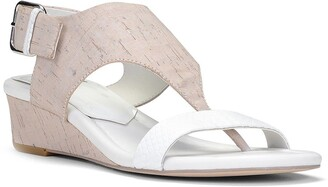 Donald J Pliner Dalton Leather Wedge Thong Sandal