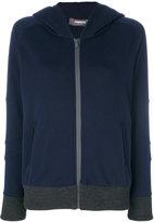 Jo No Fui zipped hoodie - women - Cotton/Polyamide/Polyester/glass - M