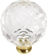 Hickory Hardware P35-CA3 35mm Crystal Palace Crysacrylic Polished Brass Cabinet Knob