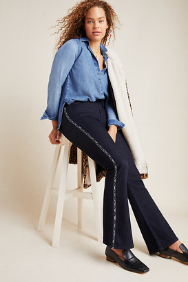 Ella Moss The High-Rise Flare Jeans By in Blue Size 24