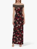 Gina Bacconi Paivi Floral Dress, Black/Red
