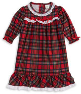 Little Me Plaid Flannel Gown