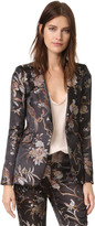 Alice + Olivia Macey Strong Shoulder Blazer