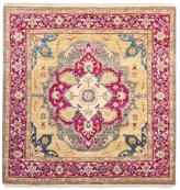 F.J. Kashanian Serapi Hand-Knotted Square Wool Rug