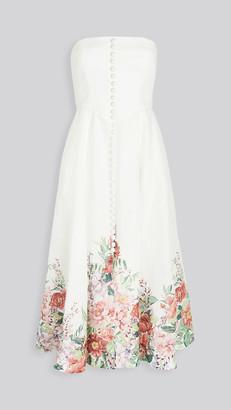 Zimmermann Bellitude Bustier Long Dress