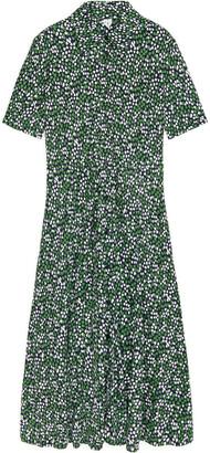 Arket Floral Jersey Shirt Dress