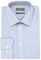 John Lewis Fine Check Tailored Fit Shirt, Navy