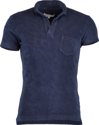 Orlebar Brown Navy Terry Towelling Resort Polo