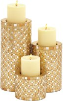 Deco 79 Metal Mosaic Candle Holder