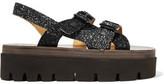 MM6 MAISON MARGIELA Glittered Leather Platform Sandals