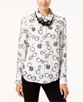 INC International Concepts Glasses-Print Blouse, Only at Macy's