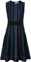 Carolina Herrera geometric intarsia lurex skater dress - women - Polyester/Wool/viscose - S