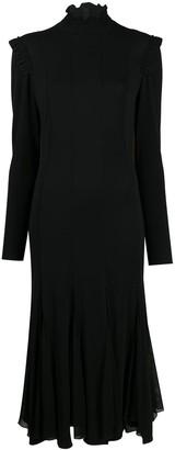 Tom Ford Ruffle-Embellished Mid-Length Dress