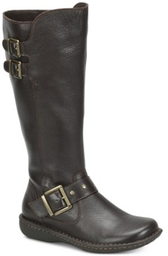b.ø.c. Oliver Wide Calf Riding Leather Boots Women's Shoes