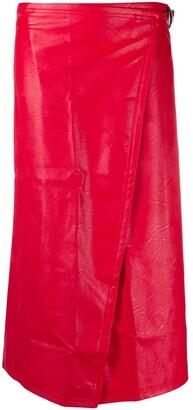 Simon Miller Vega faux-leather skirt
