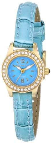 Invicta Women's 14689 Yellow gold Angel Dial Crystal Accented Light Leather Watch