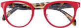 Prada round frame glasses - women - Acetate/Metal (Other) - 49