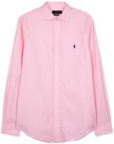 Polo Ralph Lauren Pink Slim Cotton Poplin Shirt