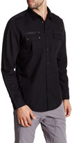 Calvin Klein Jeans Military Double Zip Trim Fit Shirt