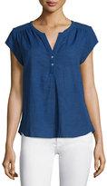 Joie Altadena Yarn-Dyed Short-Sleeve Top
