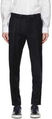 HUGO BOSS Navy Wool Bardon Trousers