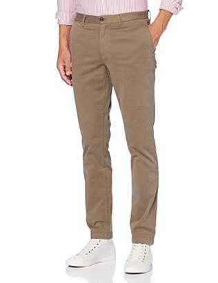 Tommy Hilfiger Men's Denton TH Flex Satin Chino GMD Trousers,One (Size:3234)