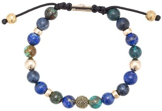 Lapis Nialaya Jewelry Blue Lapis, Blue Dumortierite and Bali Turquoise beaded bracelet