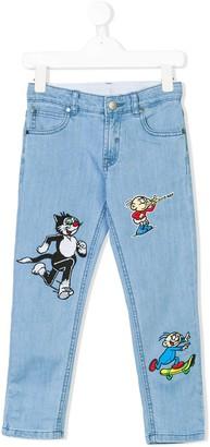 Stella McCartney Dandy patch slim jeans