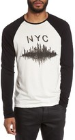 John Varvatos Men's Nyc Graphic Raglan Sleeve T-Shirt
