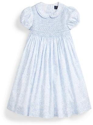 Ralph Lauren Floral Smocked Cotton Dress