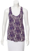 Zadig & Voltaire Snake Print Cashmere Top w/ Tags