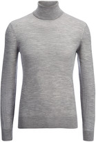 Light Merinos Roll Neck Sweater In Marble