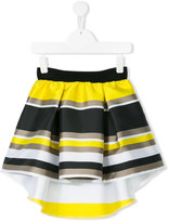 Loredana - striped cascading skirt - kids - Polyester - 10 yrs