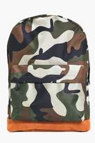 Boohoo All Over Rucksack With Suedette Panels