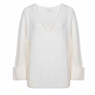 AME Terracota V Neck Sweater Off White - S