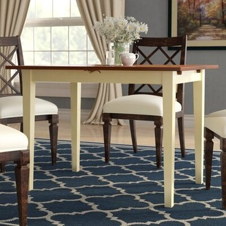 Andover Mills Balfor Butterfly Leaf Rubberwood Solid Wood Dining Table