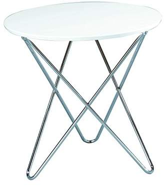 Camilla And Marc ASPECT Side Table, Wood, White, 60 x 60 x 58 cm