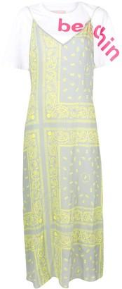 Natasha Zinko Paisley Slip Midi Dress