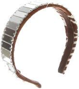Miu Miu Woven Jewel-Embellished Headband